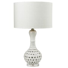 """Open Work 33"""" Table Lamp with Drum Shade"""