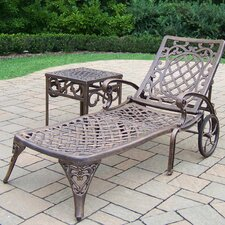 Mississippi Chaise Lounge with End Table