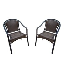 Tuscany Stackable Dining Arm Chair (Set of 2)