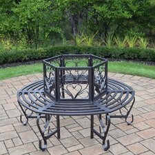 Scroll Tubular Iron Tree Bench