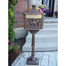 Pedestal Mounted Mailbox with Rain Overhang