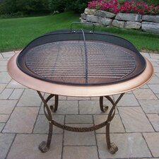 Cast Iron Wood Grill Fire Pit
