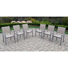 Padded Sling Stacking Dining Arm Chair (Set of 6)