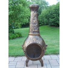 Frogs Cast Iron Wood Chiminea