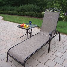 Cascade Chaise Lounge with End Table