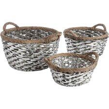 Greenwich 3 Piece Basket with Handle Set