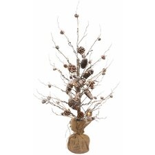 """36"""" Pine Tree Artificial Christmas Tree with 30 LED Clear/White Light"""