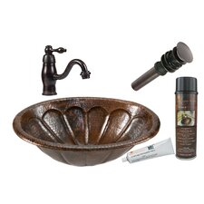 Sunburst Oval Self Rimming Sink with Single Handle Faucet and Drain