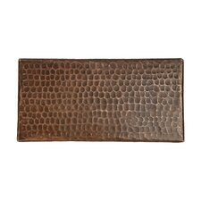 "4"" x 8"" Hammered Copper Tile in Oil Rubbed Bronze (Set of 8)"