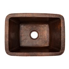 "17"" x 12"" Rectangle Copper Bar Sink"