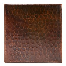 "6"" x 6"" Hammered Copper Tile in Oil Rubbed Bronze (Set of 8)"