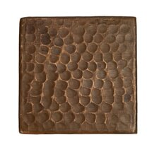 "3"" x 3"" Hammered Copper Tile in Oil Rubbed Bronze (Set of 4)"