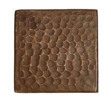 "3"" x 3"" Hammered Copper Tile in Oil Rubbed Bronze (Set of 8)"