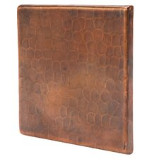 "4"" x 4"" Hammered Copper Tile in Oil Rubbed Bronze (Set of 4)"