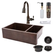 "33"" x 22"" Hammered Apron Kitchen Sink"