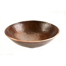 Round Old World Hand Forged Copper Vessel Sink