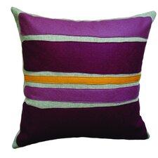 Applique Block Linen Throw Pillow