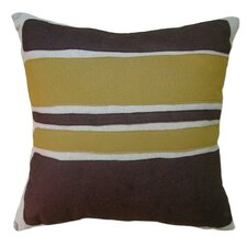 Applique Block Linen Throw Pillow