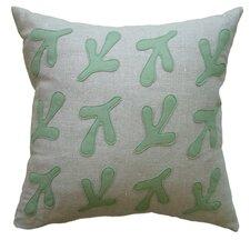 Applique Bird's Feet Linen Throw Pillow