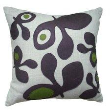 Applique Big Pods Linen Throw Pillow