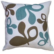 Hand Printed Pods Linen Throw Pillow