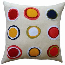 Applique Mona Linen Throw Pillow