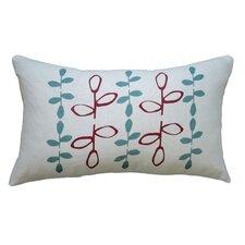 Hand Printed Branch Linen Throw Pillow