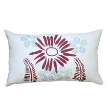 Hand Printed Fern Linen Throw Pillow