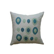 Applique Eggs Linen Throw Pillow