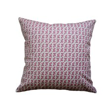 Hand Printed Bird's Feet Linen Throw Pillow