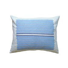Hand Printed Louis Stripe Cotton Throw Pillow
