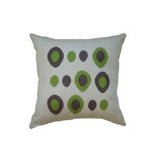 Applique Eggs Linen Throw Pillow