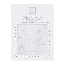 Mama and Baby Chickies Cotton Fitted Crib Sheet