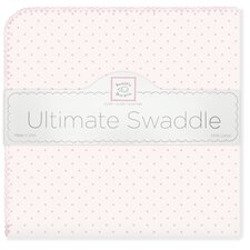 Ultimate Receiving Blanket® in Pastel Pink with Pastel Polka Dots and Pastel Trim