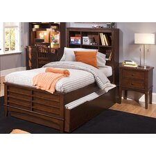 Chelsea Square Youth Bedroom Bookcase Headboard in Burnished Tobacco