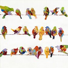 Revealed Artwork Birds on a Wire II Original Painting on Wrapped Canvas