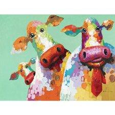 Curious Cows I Original Painting