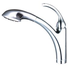 Single Handle Single Hole Kitchen Faucet with Pull-out Spout Sprayer