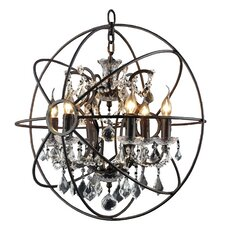 Groveland 6 Light Crystal Chandelier