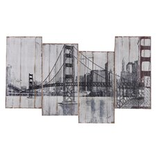 Revealed Art Golden Gate Bridge Original Painting on Wrapped Canvas