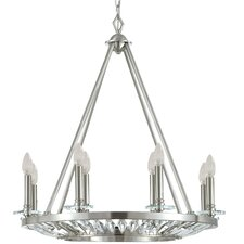 Cascade 8 Light Candle Chandelier
