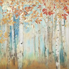 Birch Beauties II Painting Print on Wrapped Canvas