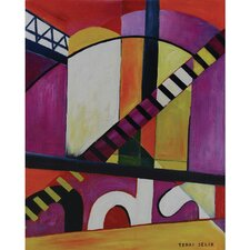 Bright Lights Painting on Wrapped Canvas