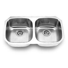 """32.25"""" x 18.13"""" Undermount Double Bowl Kitchen Sink"""