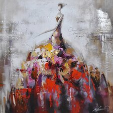 Revealed Art Dance of Life II Original Painting on Wrapped Canvas