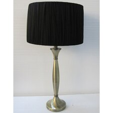 """Narrow Base 1 Light Portable 28.5"""" H Table Lamp with Drum Shade"""