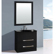 "Transitional 32"" Single Bathroom Vanity Set with Mirror"