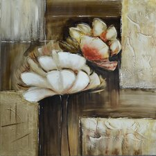 Revealed Art Floral Sighs Original Painting on Wrapped Canvas