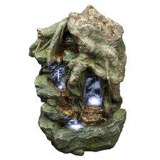 Double Falls Polyresin Fountain