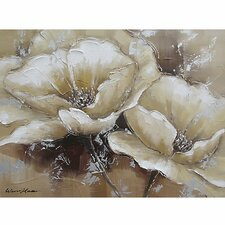 Revealed Art 'Full Bloom I' By Unknown Original Painting on Wrapped Canvas